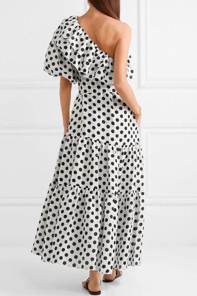 Arden polka-dot linen dress Lisa Marie Fernandez s4ANb