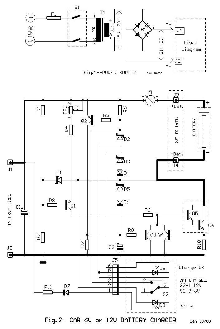 This 6v And 12v Car Battery Charger Circuit Can Be Automatically Charged  Quickly And Correctly