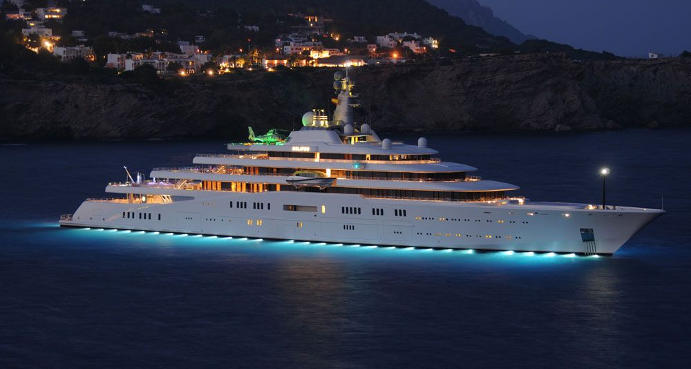 Superyacht abramovich  Eclipse Super-Yacht Price: $1.5 Billion Owner: Russian Billionaire ...