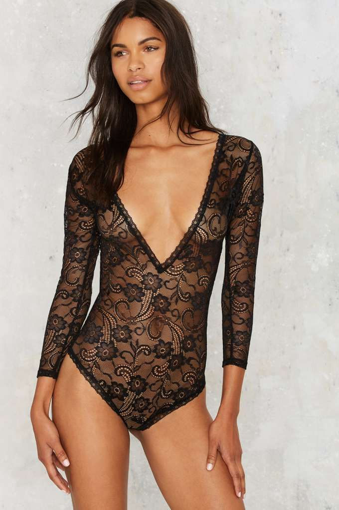 dc404fb12 How To Wear See Through Bodysuits, Black see through bodysuit, Nastygal  bodysuit, lace see through bodysuit