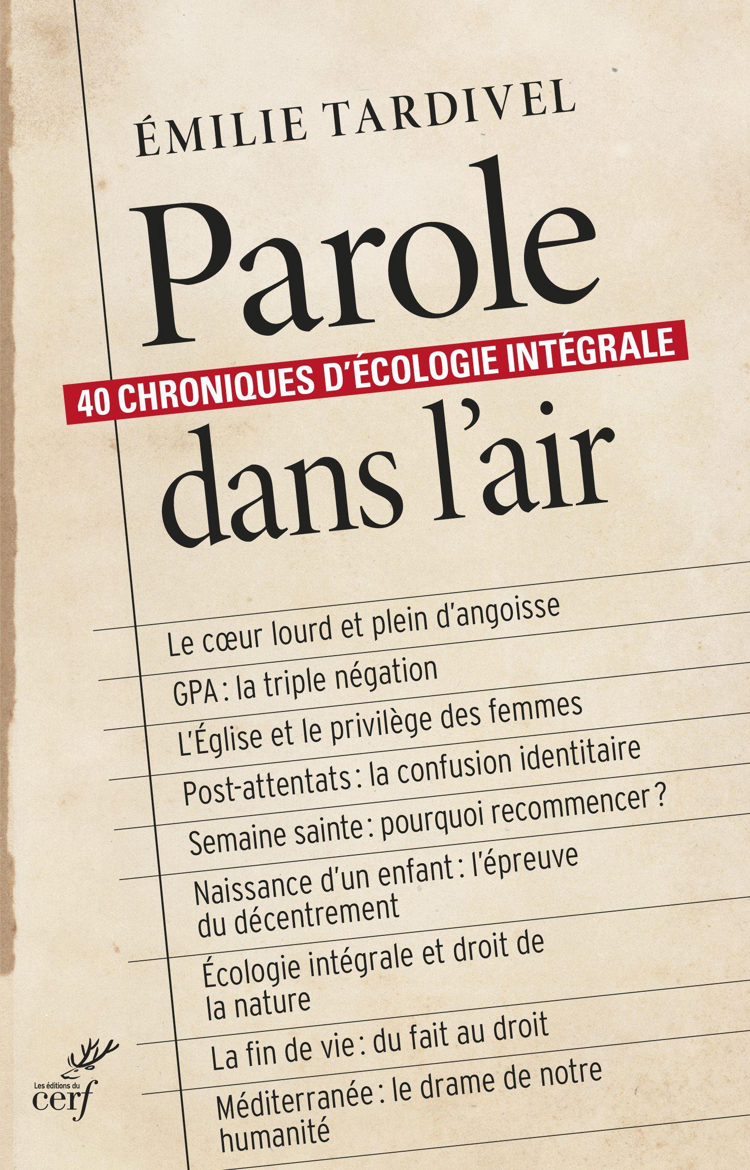 """"""" Parole dans l'air """", de Émilie Tardivel."""