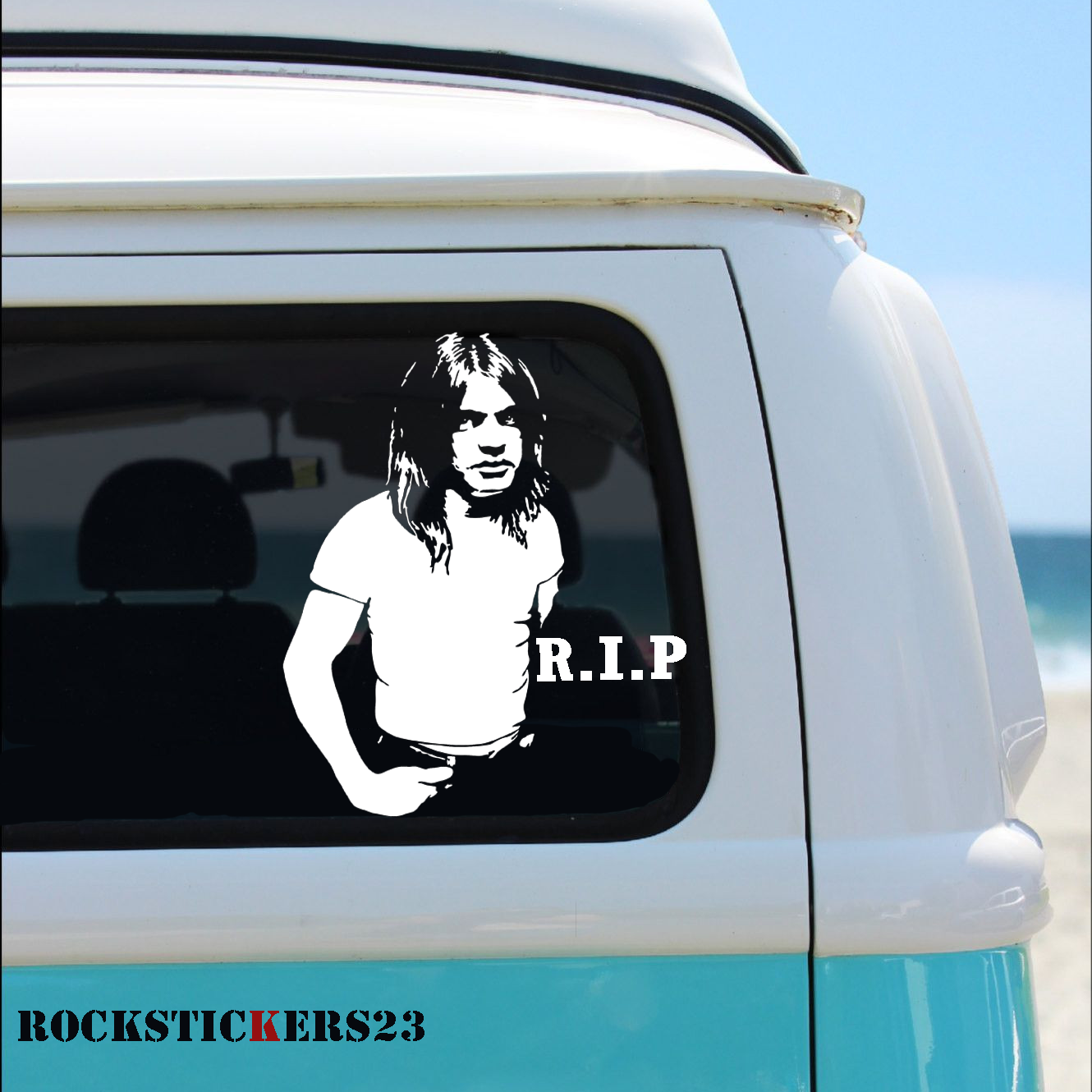 Malcolm Young Vinyl Portrait Stickers Guitar Car Laptop Etsy Malcolm Young Vinyl Johnny Thunders [ 1330 x 1330 Pixel ]