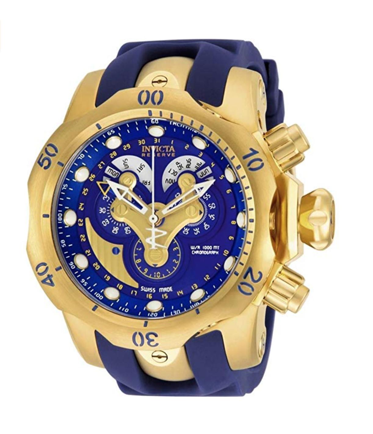 a016657ba94 Invicta Reserve Men s Chronograph Quartz Watch with Polyurethane Strap –  14465  Invicta  Luxury