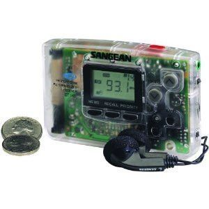 Sangean Dt 110cl Fm Am Lcd Stereo Pocket Radio With Earphones