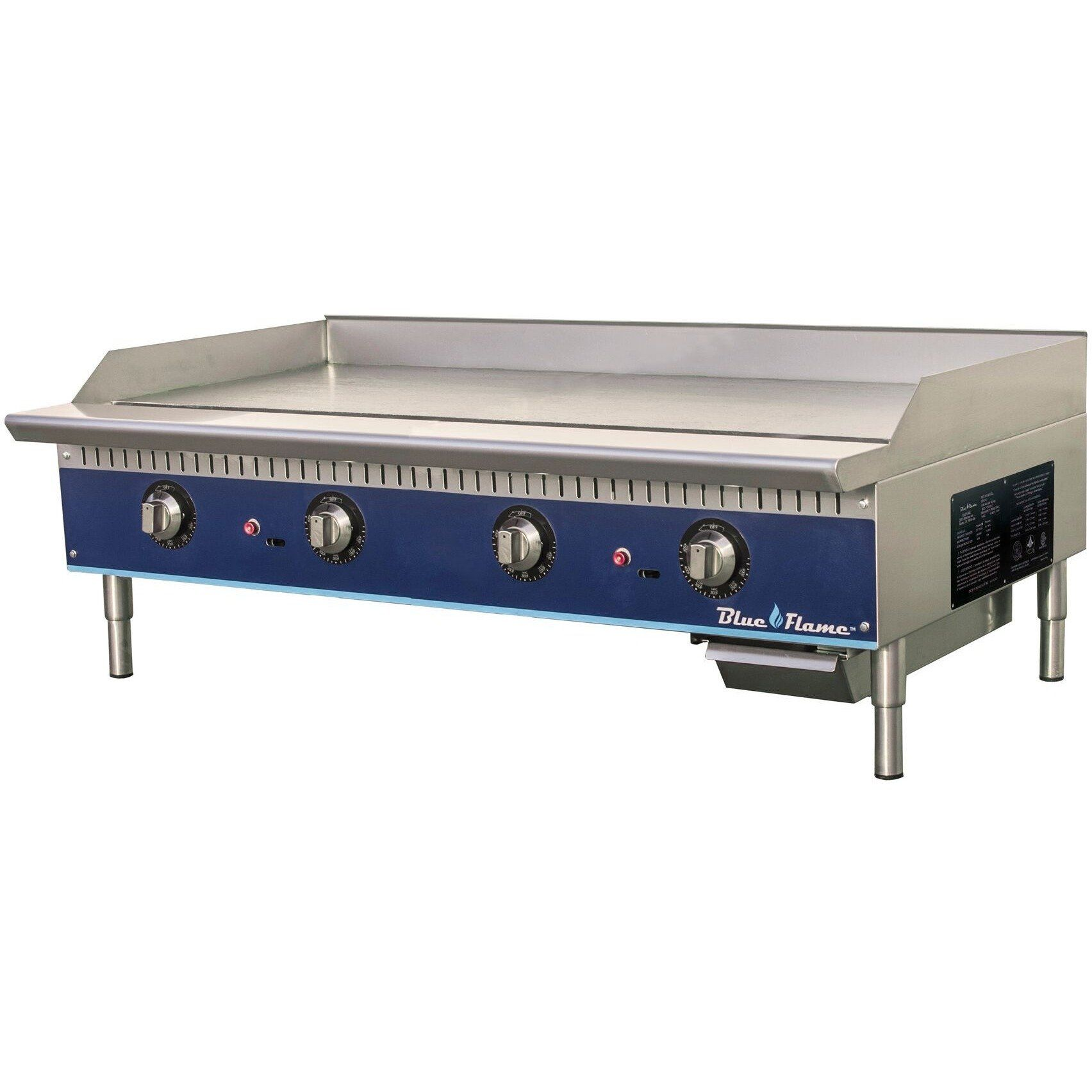 Blue Flame Commercial Kitchen 48 Thermostatic Gas Griddle With