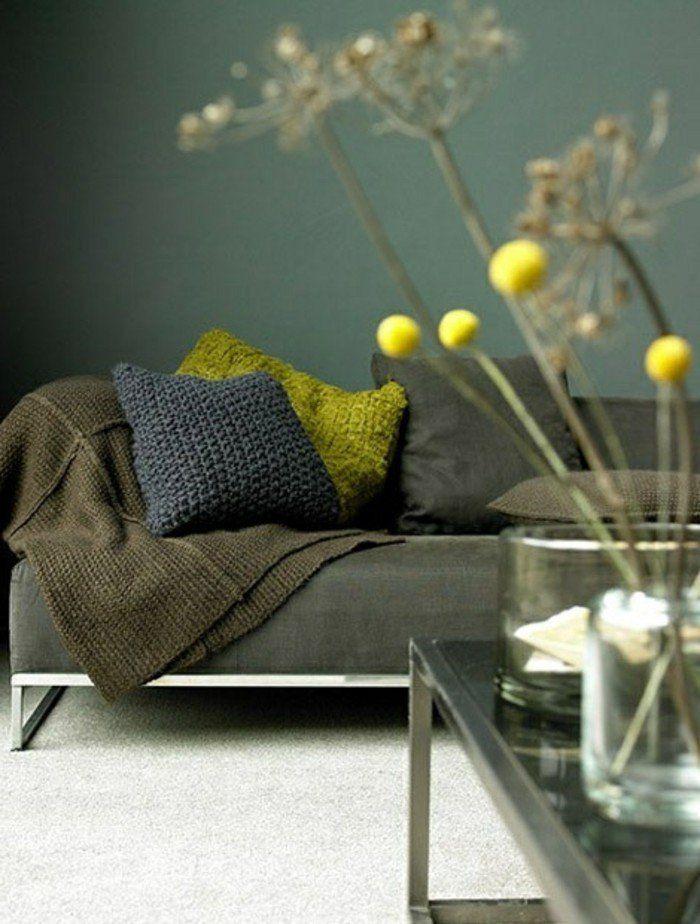 déco chambre zen adulte et chambre adulte zen, canapé vert foncé ...