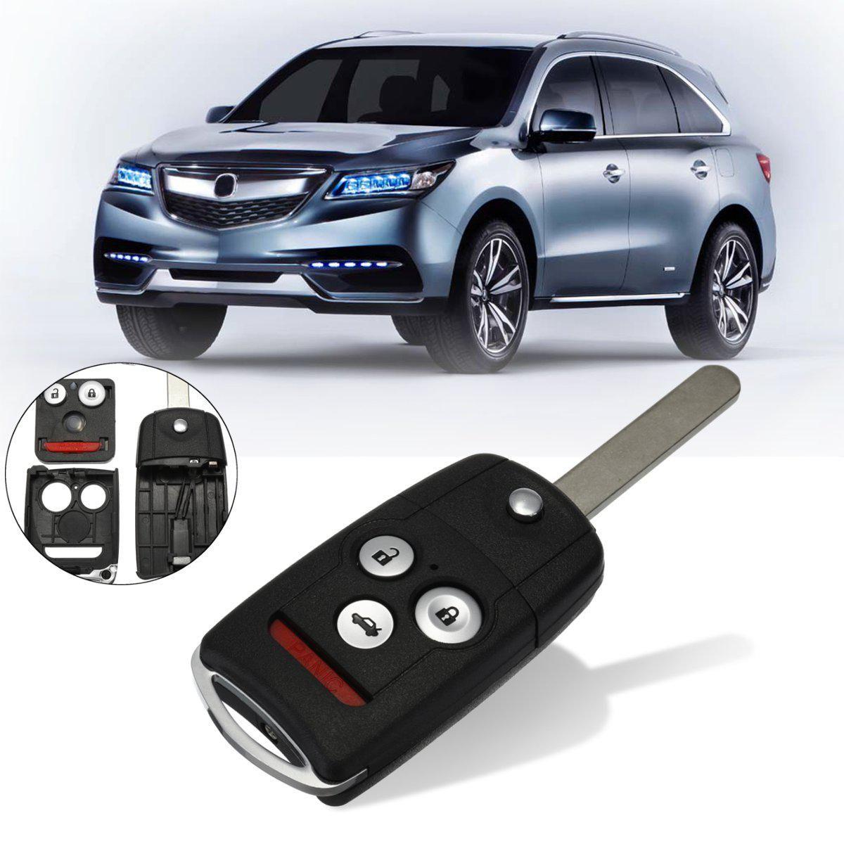 #KK-2620 3+1 Buttons Remote Flip Car Key Fob Shell Case W