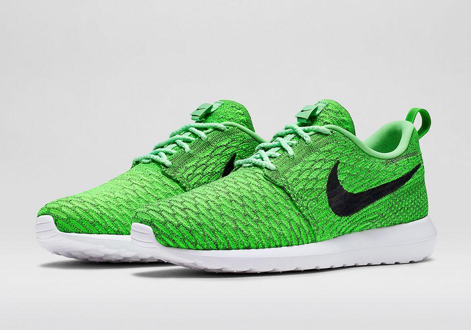 Multiple Nike Flyknit Roshe Run Colorways