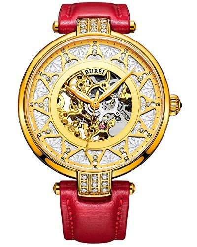 BUREI Women's 15006-04 Automatic Skeleton Rose Gold Dial Red Calfskin Leather Watch BUREI http://www.amazon.com/dp/B016Y4PM6C/ref=cm_sw_r_pi_dp_qllNwb0SKFGNM