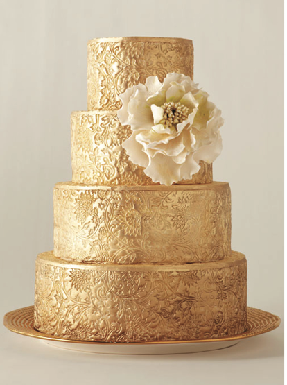 Golden Floral Designs Unique Cakes Pinterest Floral designs