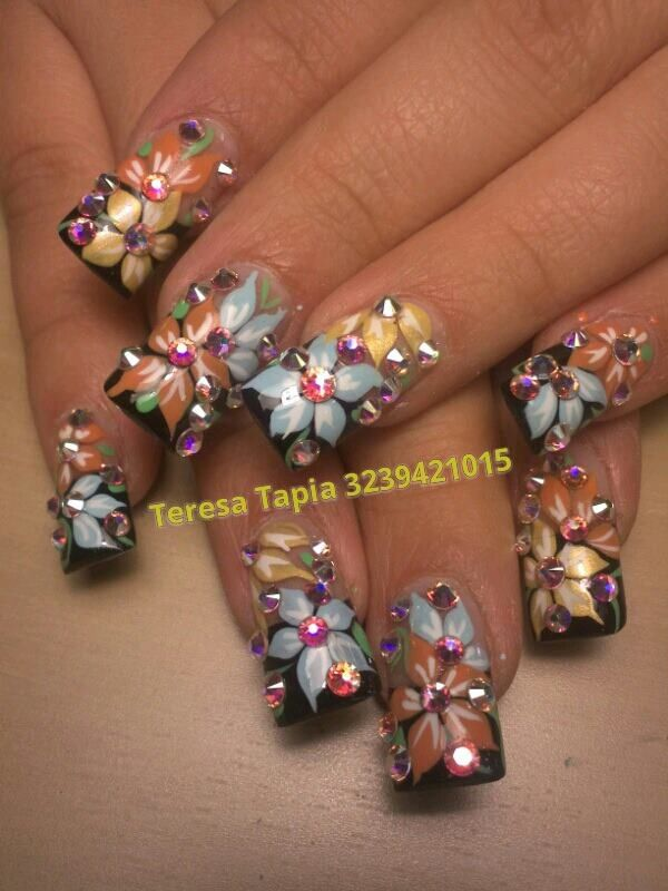 Glamour nails by teresa tapia | Glamour nails | Pinterest