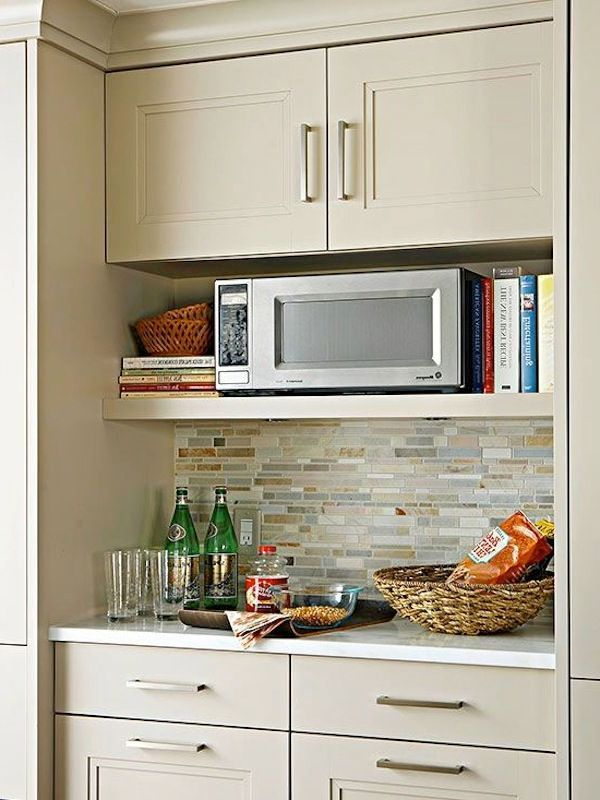 microwave cabinet kitchen remodel