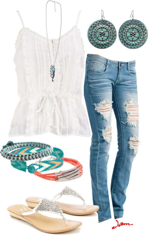 377164c025 10 stylish ways to wear distressed jeans from morning to evening - Page 4  of 11 - women-outfits.com
