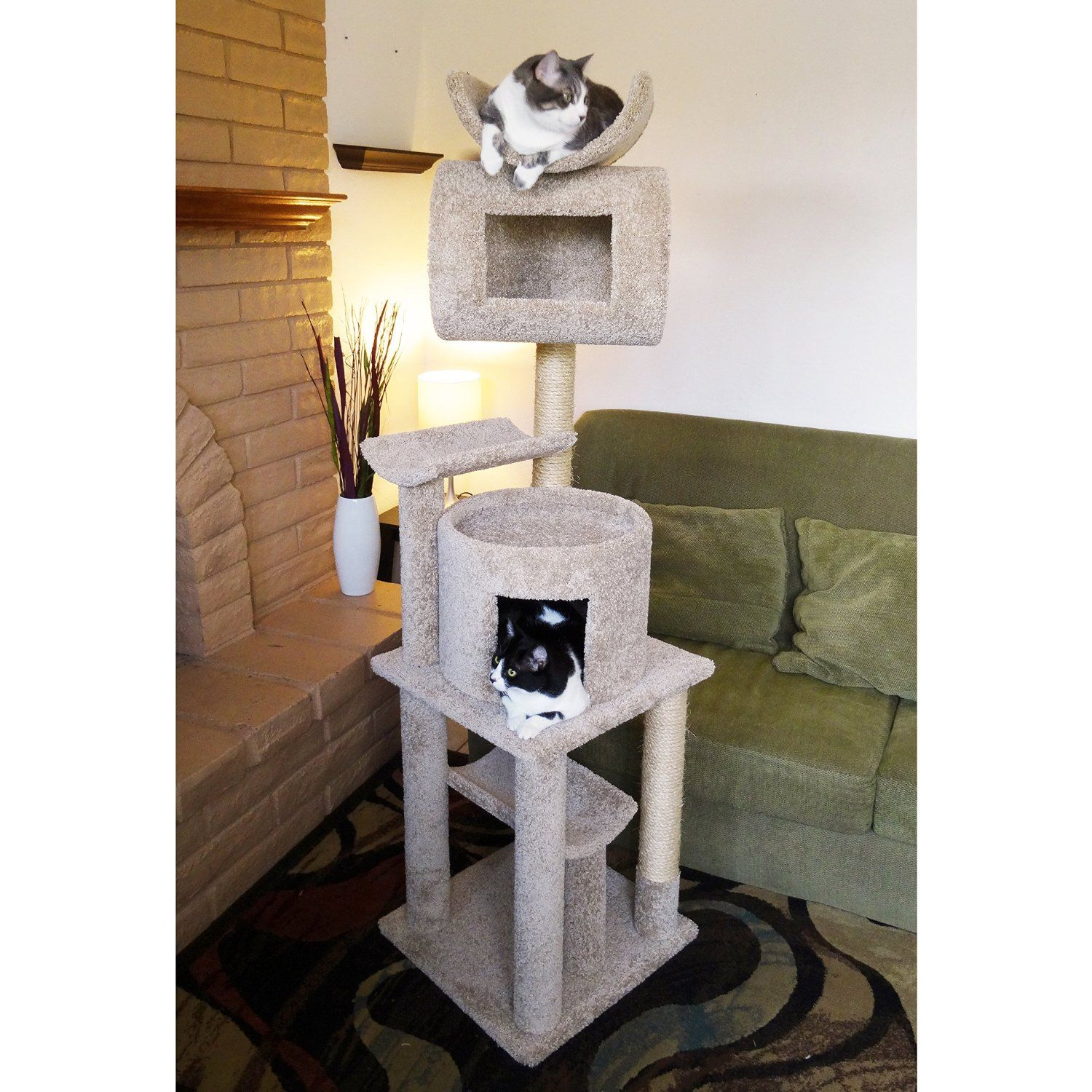 Cat Trees Carpet Covered Works Of Art? Cat tree house