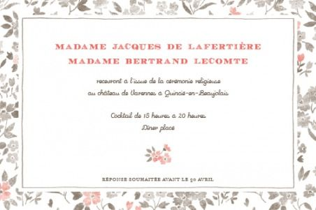 Carton d'invitation mariage A Cup of tea by Tomoë pour www.rosemood.fr #mariage #wedding #invitation