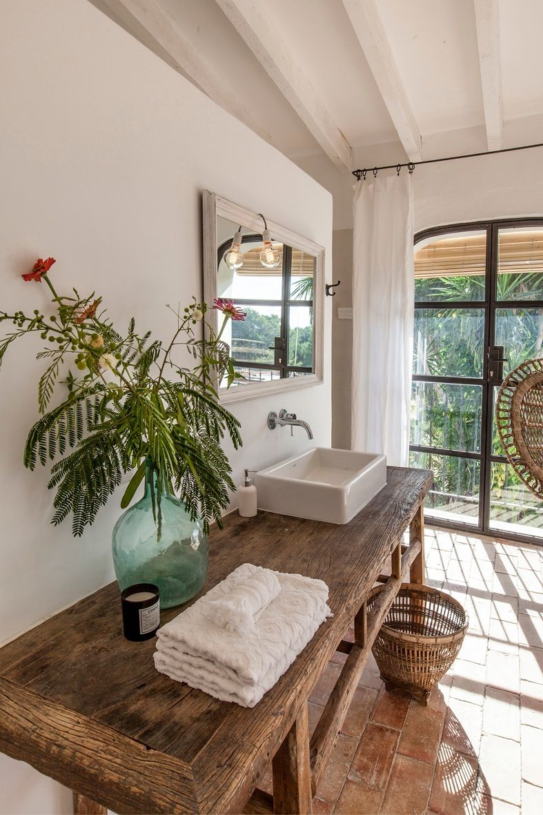 Pin By Sandy Rebestekou On Paros Home Tropical Bathroom House