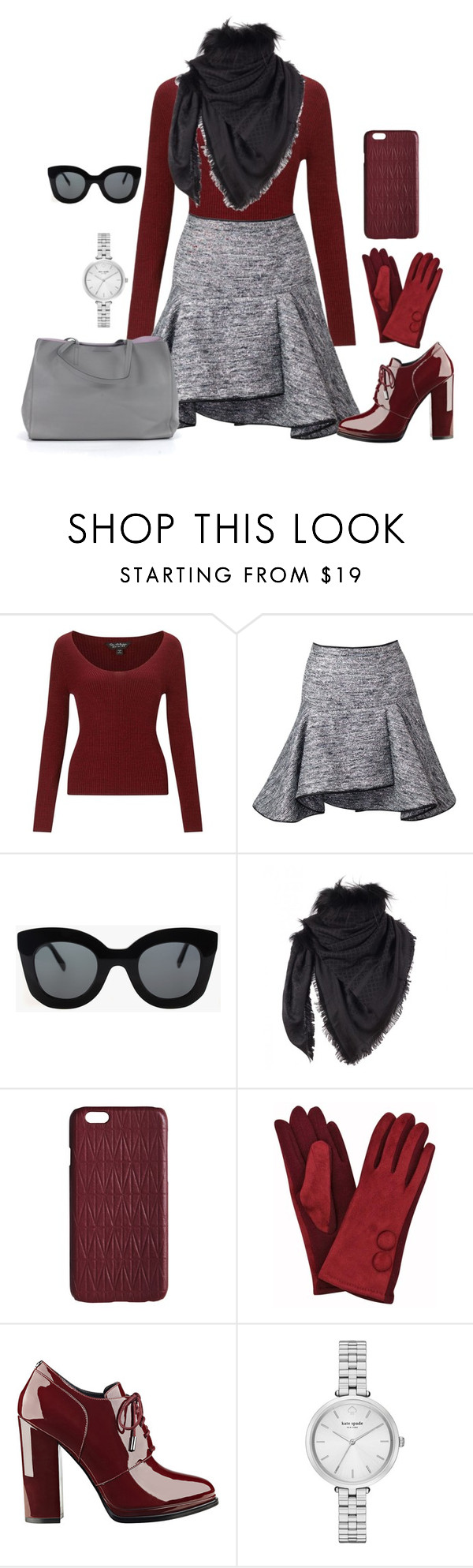 """""""Untitled #1593"""" by ebramos ❤ liked on Polyvore featuring Miss Selfridge, CÉLINE, Gucci, Dagmar, GUESS, Kate Spade and Banana Republic"""