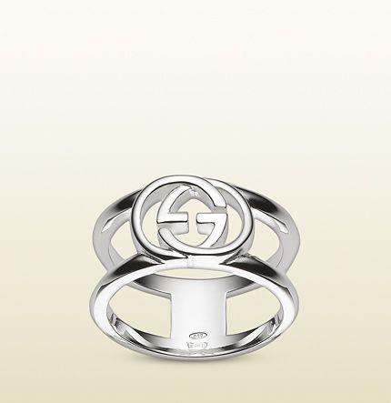 101c4dfc1 Gucci - wide ring with interlocking G motif 295716J84008106 ...