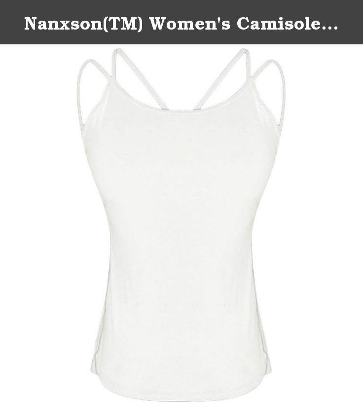 e6719a21ef735 Nanxson(TM) Women s Camisole Built-in Shelf Bra Spaghetti Straps Tank Top  NYW0069