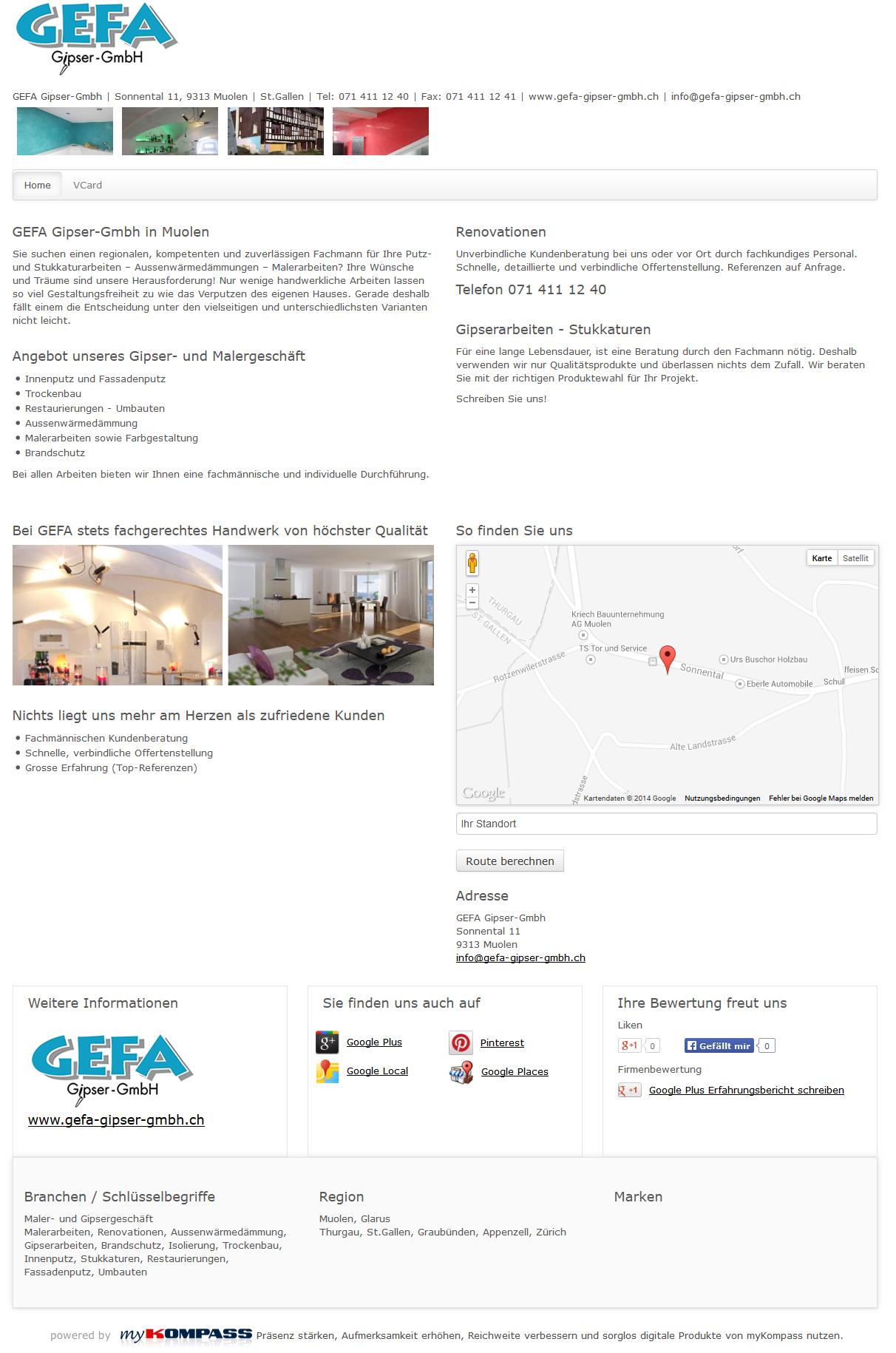 Gefa Gipser Gmbh Muolen Thurgau Malerarbeiten Renovationen