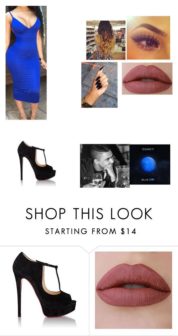 """Blue Dot🔵 Listening Party"" by mrsobeydario ❤ liked on Polyvore featuring Christian Louboutin"