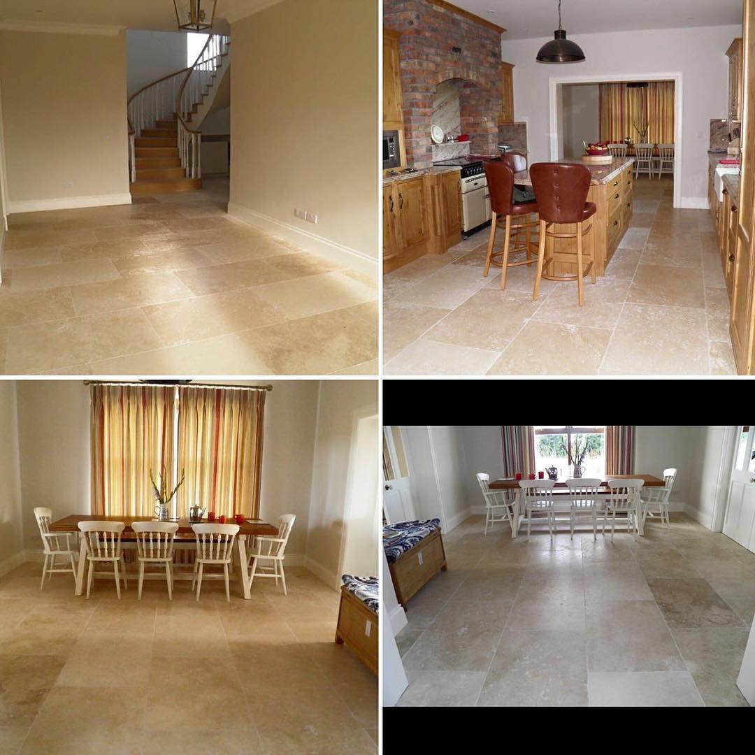 #travertine #tumbledstone #flagstone  #tiledesign #tiling #60x60 #kitchen #tiles #naturalstone #interiordesign #kitchendesign by marbletiles