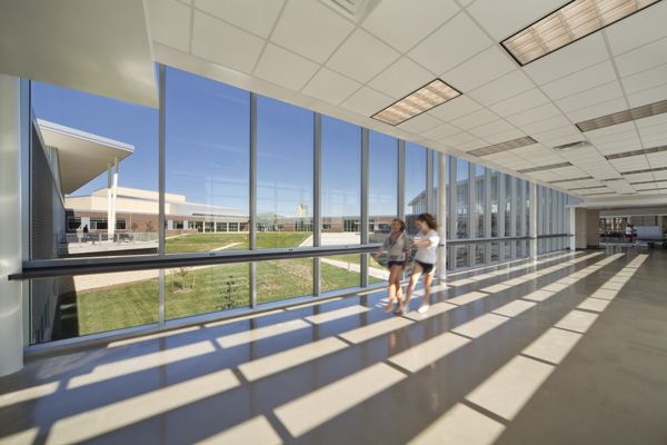 Blue Valley Southwest High School Designed By Perkins Will Via