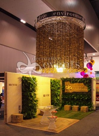 Exhibition Booth Decoration : Wonderful use of greenery for this custom exhibition stand from
