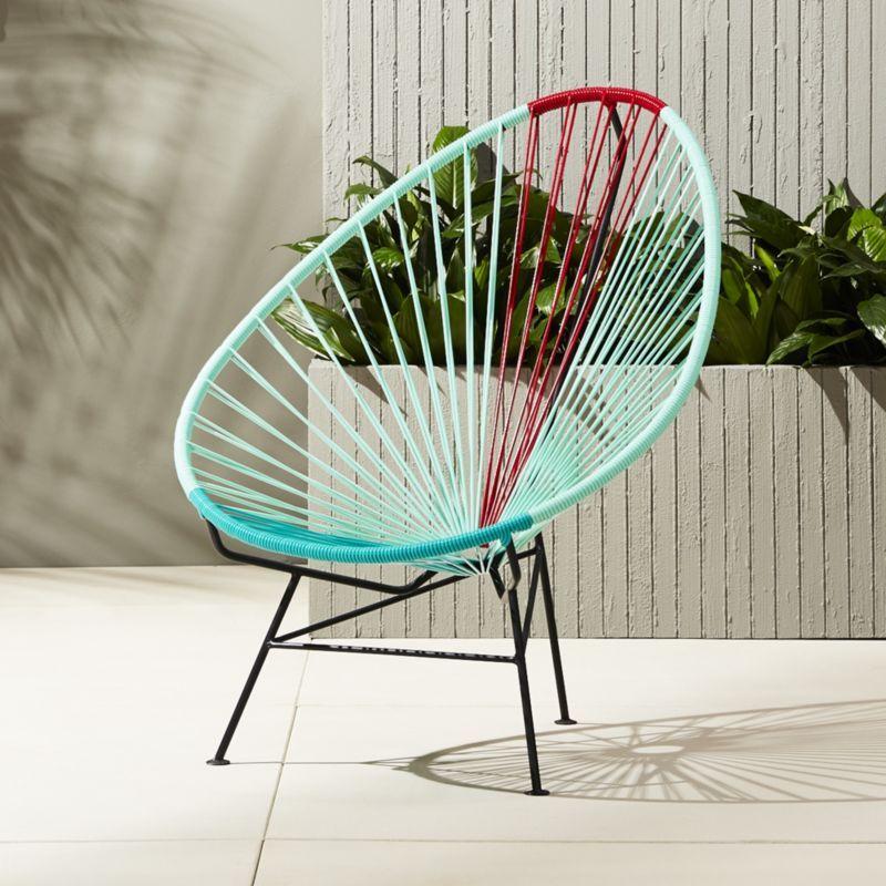 Groovy Shop Acapulco Aqua Red Egg Outdoor Chair Modernist Camellatalisay Diy Chair Ideas Camellatalisaycom