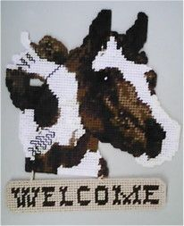 Free Southwestern Plastic Canvas Patterns Horse Welcome
