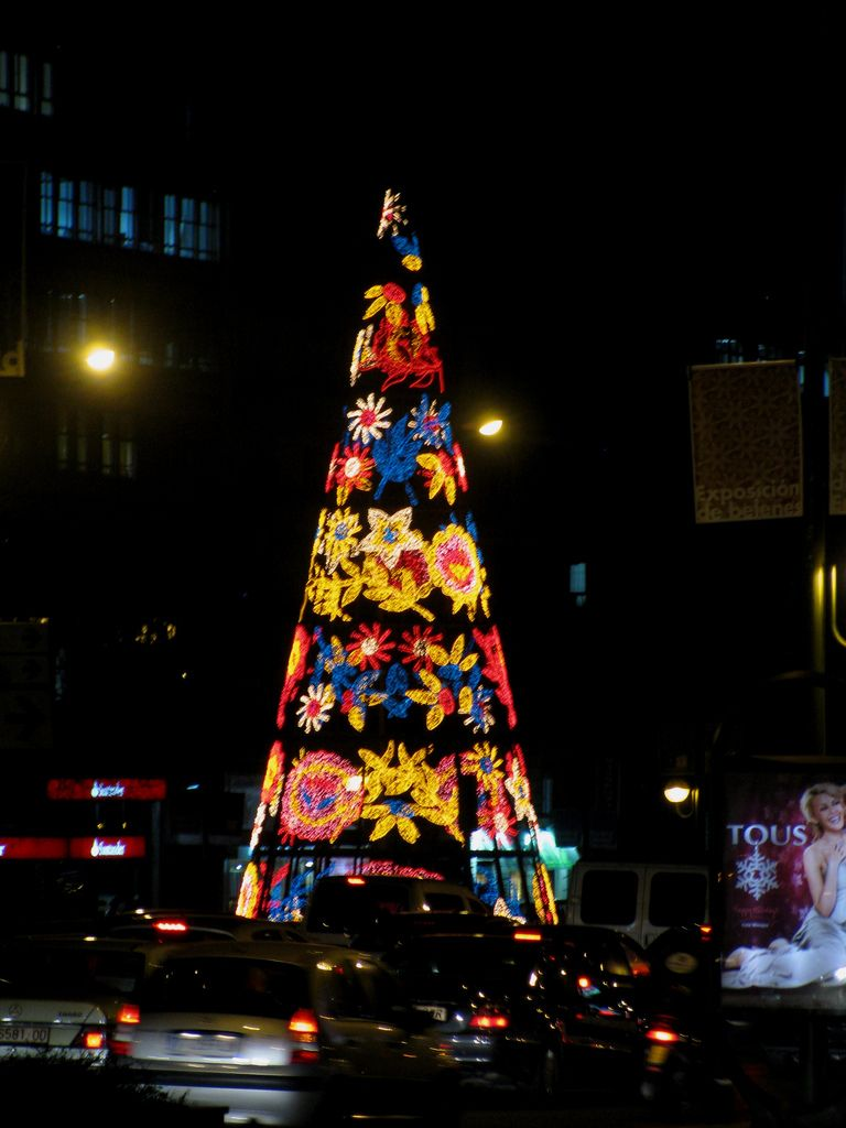 Christmas tree, Madrid Christmas lights, Magical