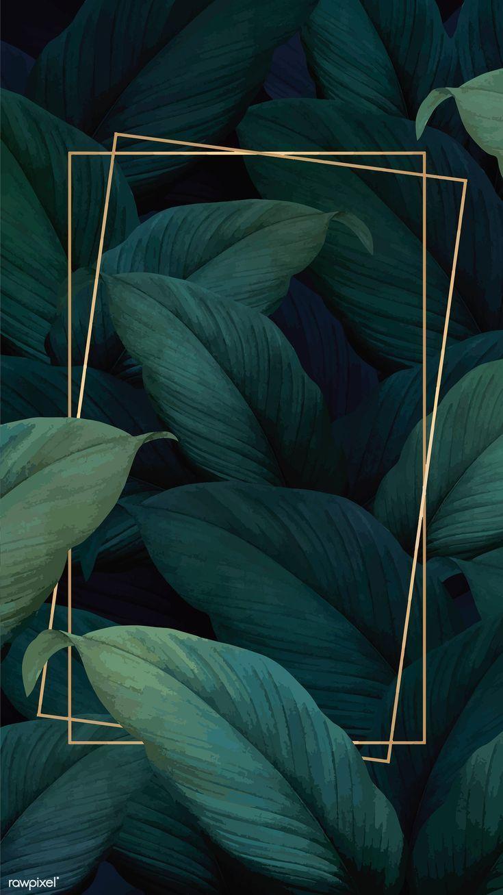 Green tropical leaves patterned poster vector | premium image by rawpixel.com / ... - #Green #image #leaves #Patterned - #BackgroundGirly #walpaperChristmas #walpaperFlores #walpaperPastell #walpaperSperrbildschirm #walpaperWinter - #downloadcutewallpapers