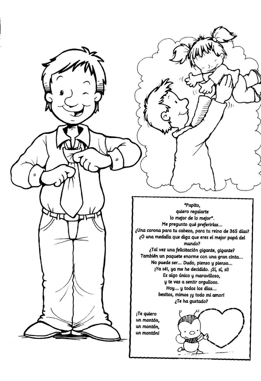 RECURSOS y ACTIVIDADES PARA EDUCACIÓN INFANTIL: Poesías para el DÍA del  PADRE | Poemas dia del padre, Dia del padre, Dibujos dia del padre