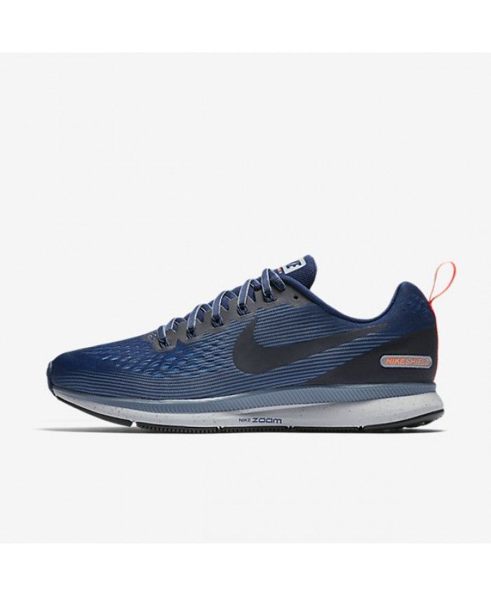 9a8570e41f4e6 Nike Air Zoom Pegasus 34 Shield Binary Blue Armory Blue Obsidian Obsidian  907327-400