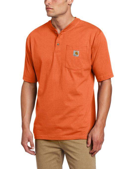Carhartt Men's Shortsleeve Workwear Henley K84 $22.99