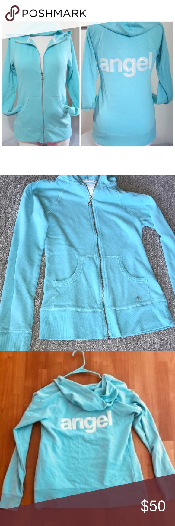 Aqua Victoria secret angel hoodie New without tags Victoria secrets angel hoodie RARE- VS fashion show is no more :(  Angel graphic on the back Victoria's Secret Jackets & Coats #Angel #Aqua #fashion #Graphic #Hoodie #RARE #secret #Secrets #Show #Tags #Víctor #victoria
