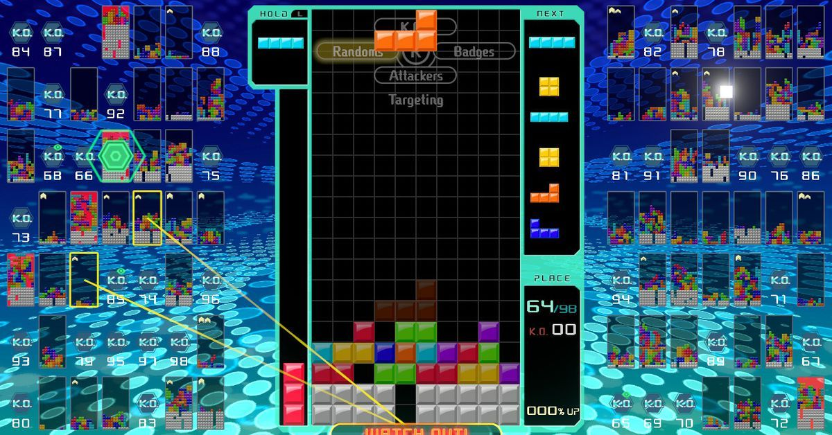 Tetris 99 on Switch manages to make the classic game more intense