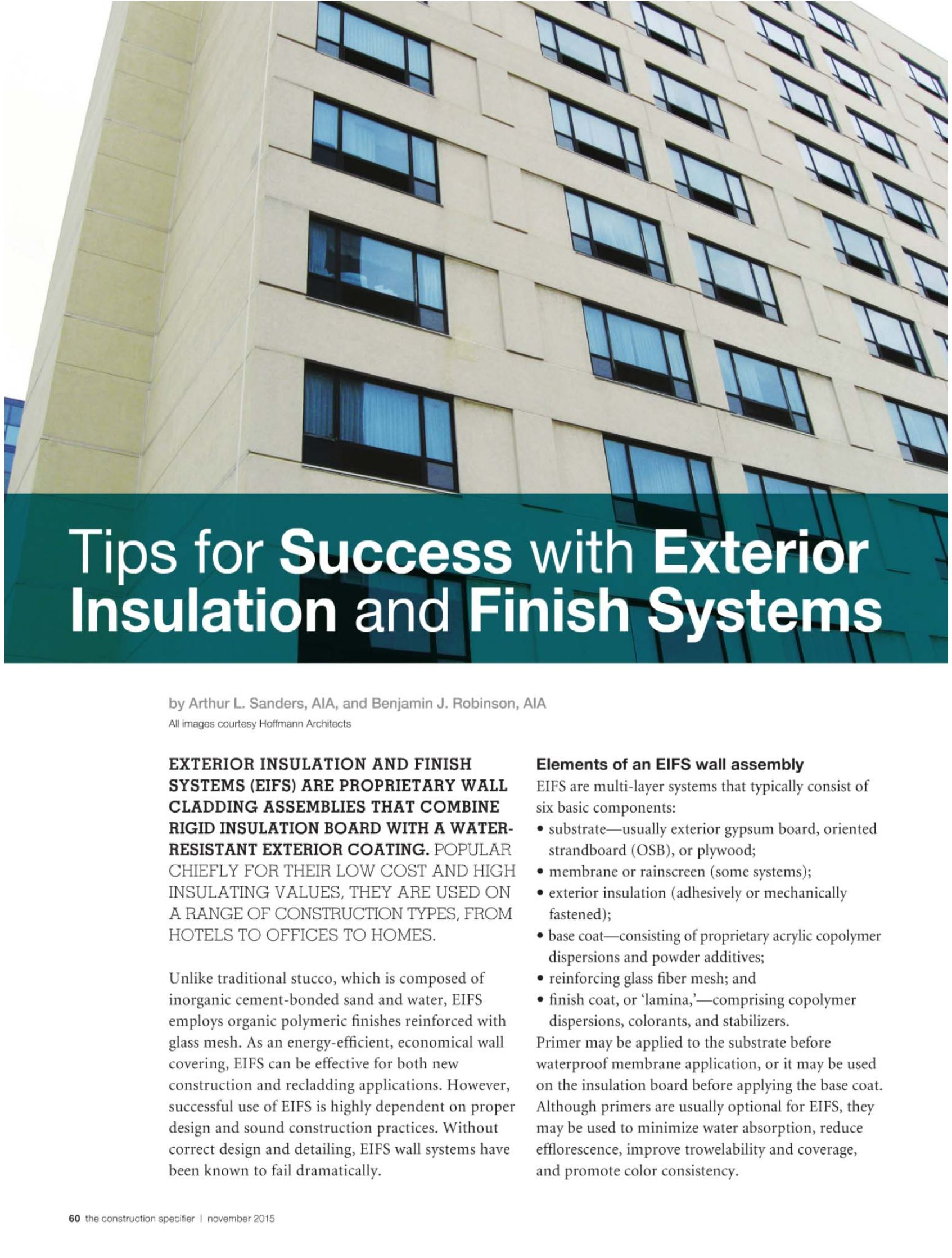 Rigid Insulation Types Tips For Success With Exterior Insulation And Finish Systems Eifs