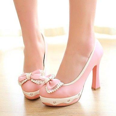 Verrassend vrouwen dikke hak ronde neus pumps schoenen (meer kleuren) - EUR UM-37