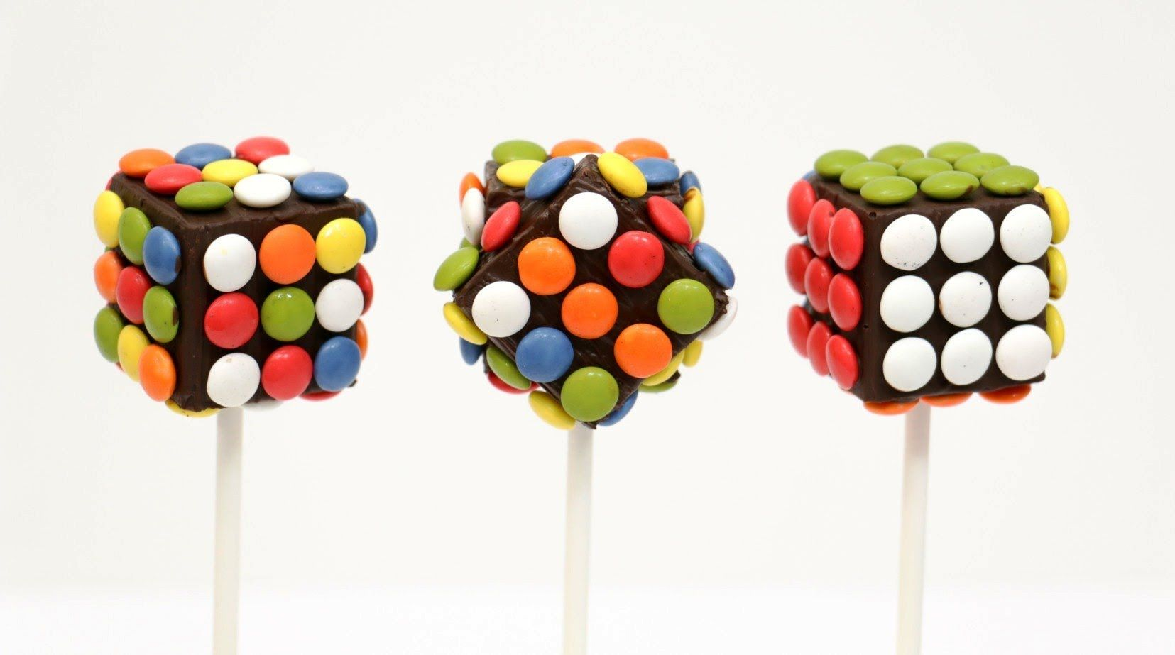 DIY-How To Make Rubik M&M´s Chocolate Pops (COOKING TOYS) - YouTube #chocolatepops