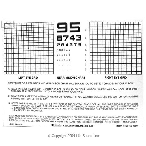 picture about Printable Amsler Grid titled Pin upon Macular Condition /amsler grid eye check out