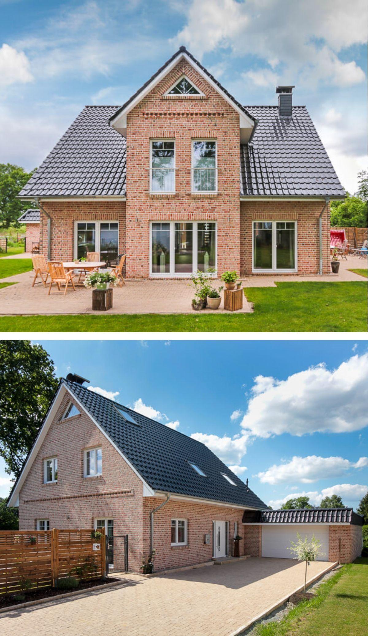 Einfamilienhaus im Landhausstil mit Garage, Satteldach