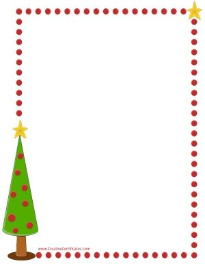 Xmas tree border | Christmas border, Free christmas ...