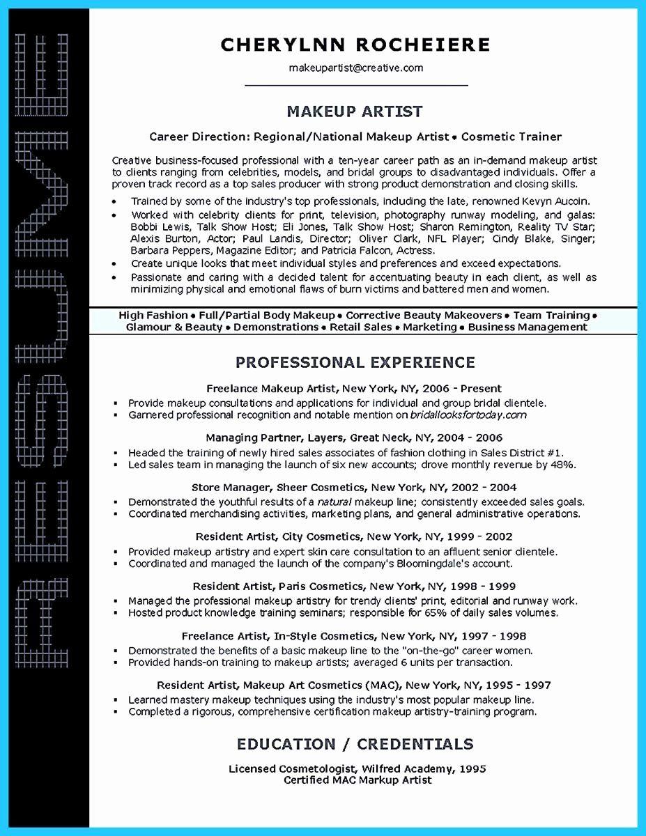 25 Fine Artist Resume Template in 2020 Artist resume