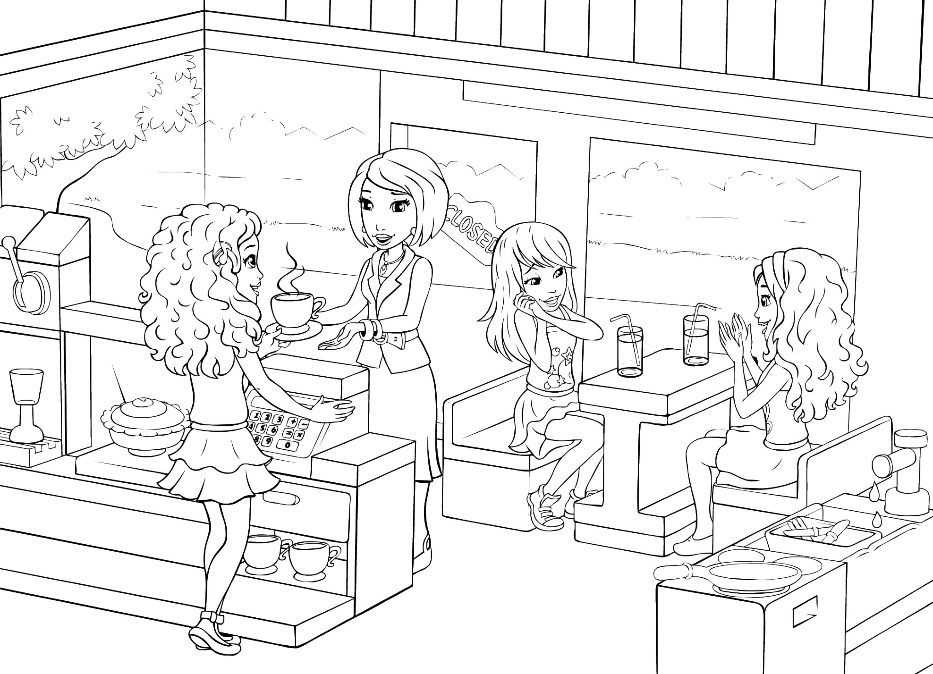 lego friends coloring pages online