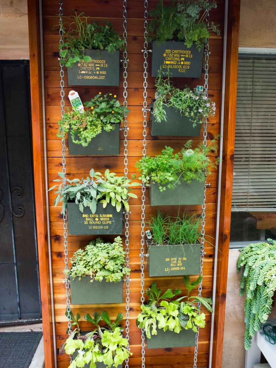 Bring an industrial look to your garden by potting plants in ammo ...