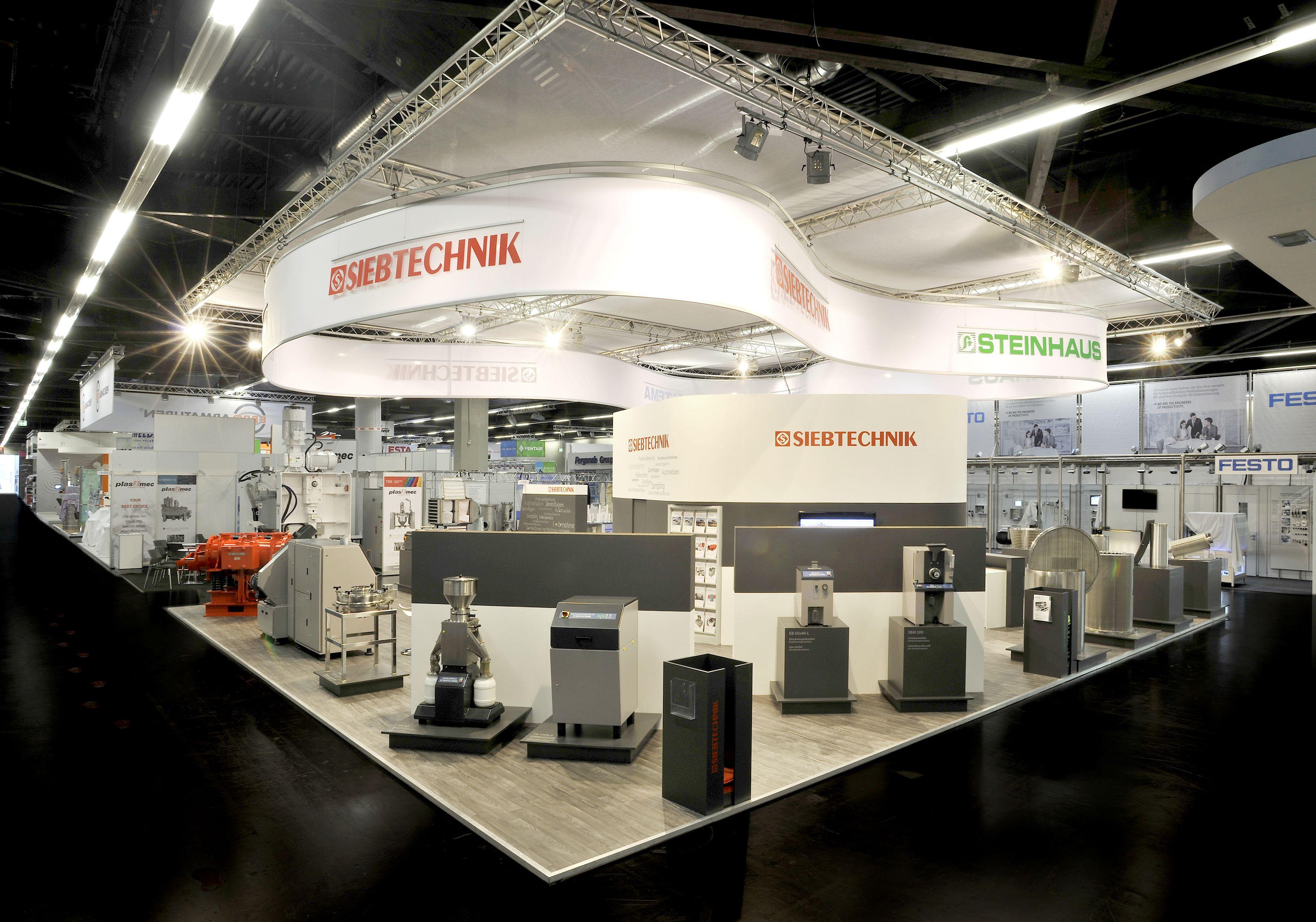 Siebtechnik GmbH, Steinhaus GmbH, Tema Process Referenzbeispiel zur Powtech, Nürnberg 182m²