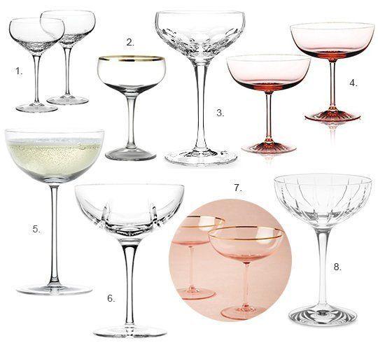 8 Elegant Champagne Coupe Glasses Champagne Coupe Glasses Champagne Coupes Vintage Champagne Glasses