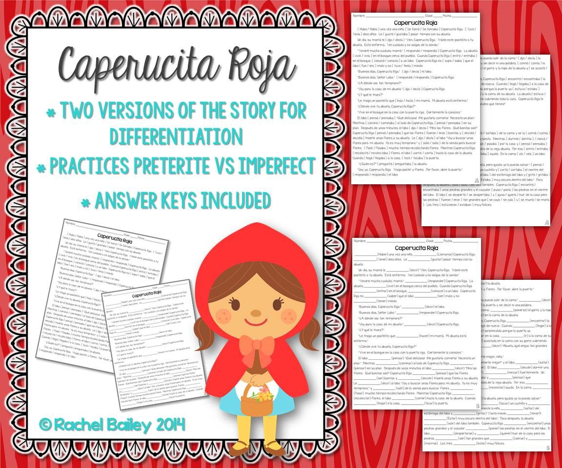 Preterite Vs Imperfect Story Worksheet