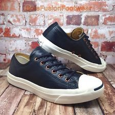 Converse All Star Mens Leather Jack Purcell Trainers Blue sz 6 ... f060324ac
